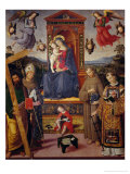 Madonna and Child with the Infant Saint John and Saints Giclee Print by Bernardino di Betto Pinturicchio
