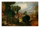 Landscape with Saints Giclée-tryk af Dosso Dossi