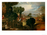 Landscape with Saints Giclee Print by Dosso Dossi