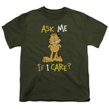 Youth: Garfield - Ask Me If I Care Shirts