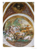 Medallion with Hunting Scenes Giclee Print by Giulio Romano