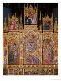 Triptych Giclée-tryk af Taddeo di Bartolo