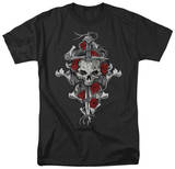 Lethal Threat - Rose Skull Dagger T-Shirt