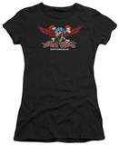 Juniors: Lethal Threat - USA Death Skull T-shirts