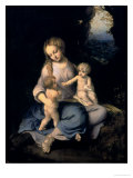Madonna and Child with the Infant Saint John Giclee Print by Correggio