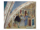 Scenes from the Life of St. Catherine: Saint Catherine and the Idolatrous Empress Giclee Print by Tommaso Masolino Da Panicale