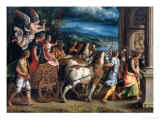 The Triumph of Titus and Vespasian Giclee Print by Giulio Romano