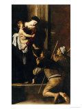 Madonna Dei Pellegrini Giclée-tryk af Caravaggio