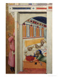 Saint Nicholas Giving Three Balls of Gold to Three Poor Girls Giclee Print by Ambrogio Lorenzetti
