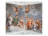 Ceiling of the Room of Married Love Giclee Print by Paolo Veronese