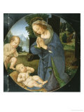 Madonna and Child with Infant Saint John Giclee Print by Lorenzo di Credi