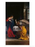 Annunciation Giclée-tryk af Orazio Gentileschi
