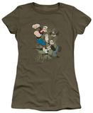 Juniors: Popeye - Three Part Punch T-shirts