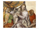 Holy Family with Saint Catherine and the Infant Saint John Giclee Print by Paolo Veronese