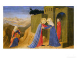 Cortona Altarpiece Showing the Annunciation, Predella: Visitation Reproduction proc&#233;d&#233; gicl&#233;e par Angelico &amp; Strozzi 