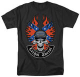 Lethal Threat - Rebel Skull T-shirts
