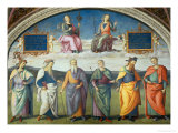 Lunette with Power and Justice Giclee Print by Pietro Perugino