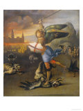 Saint Michael and the Dragon Giclee Print by  Raphael