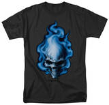 Lethal Threat - Blue Flame Skull T-Shirt