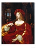 Portrait of Joan of Aragon Impression giclée par  Raphael