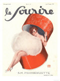 Le Sourire, Glamour Erotica Magazine, France, 1920 Giclee Print