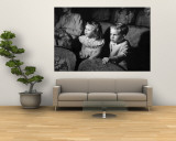 Children Watching Cartoons in a Movie Theater Wall Mural by Charles E. Steinheimer