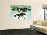Frog Jumping Into an Aquarium Premium Wall Mural by Gjon Mili
