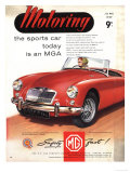 MG Convertibles, UK, 1950 Giclee Print