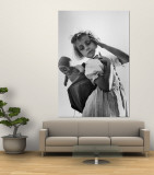 Austrian Girl and Her Doll Premium Wall Mural by Nat Farbman