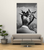 Woman Showing Her Fashionable Wartime Hairstyle Called Winged Victory Premium Wall Mural by Nina Leen
