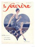 Le Sourire, Glamour Art Deco Magazine, France, 1920 Giclee Print