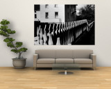 Wooden Picket Fence Surrounding a Building Built in 1850 in a Shaker Community Premium Wall Mural by John Loengard