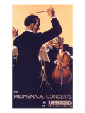London Transport, Underground Conductors Orchestras Instruments, UK, 1920 Giclee Print