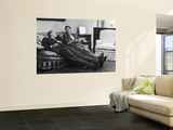 Men Relaxing at Home After Work Premium Wall Mural by Nina Leen