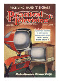 Practical Television, Visions of the Future, Televisions DIY Futuristic Magazine, UK, 1950 Giclee Print