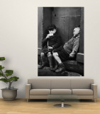 Two Boys Sitting on Doorstep Wall Mural by Nat Farbman