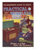 Practical Wireless, Radios Listening To Music DIY Hi-Fi Magazine, UK, 1950 Giclée-tryk