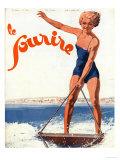 Le Sourire, Water Ski Magazine, France, 1932 Giclee Print