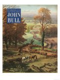 John Bull, Rural Farming Countryside Horses Logs Farms Magazine, UK, 1953 Posters