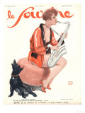 Le Sourire, Glamour Saxophones, France, 1929 Prints