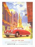 Austin, Austin A90 Cars, UK, 1950 Giclee Print