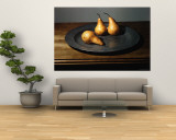 Still Life of Pears on Antique Pewter Plate Wall Mural by Eliot Elisofon