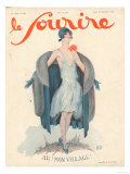 Le Sourire, Paris Womens Magazine, France, 1920 Posters