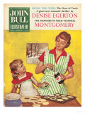 John Bull, Mothers and Daughters Baking Mince Pies Magazine, UK, 1958 Prints