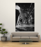 St. John's Defeating Bradley in a Basketball Game at Madison Square Garden Premium Wall Mural by Gjon Mili