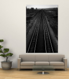 Railroad Tracks Wall Mural by Andreas Feininger