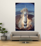 Saturn V Rocket Lifting the Apollo 11 Astronauts Towards Their Manned Mission to the Moon Wall Mural by Ralph Morse