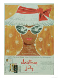 Bourjois, Sunglasses Hats Womens, UK, 1950 Giclee Print