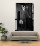 Attorney Richard Nixon in the Doorway of Law Office After Returning From WWII to Resume His Career Premium Wall Mural by George Lacks