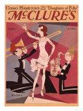 McClures, Trombones Saxophones Instruments Singers Magazine, USA, 1920 Prints